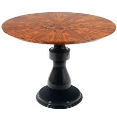 Chess Coffee Table in Matched Wood Veneer Rosewood Top