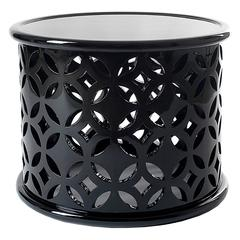 Soledad Side Table in Mahogany Black Lacquered