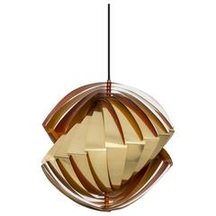 Louis Weisdorf Ceiling Lamp Model Konkylie Produced by Lyfa in Denmark