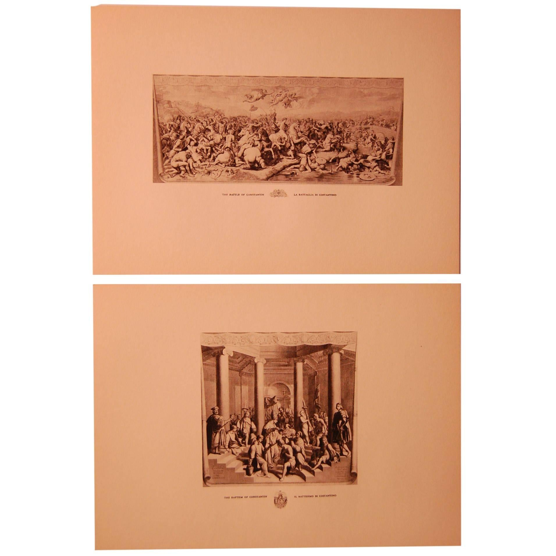 Set/Eight 20th Century Prints Depicting Ancient Roman Events
