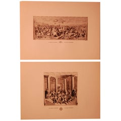 Set/Eight 20th Century Prints Depicting Ancient Roman Events