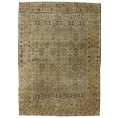 Antique Persian Kerman Rug with Traditional English Manor Style