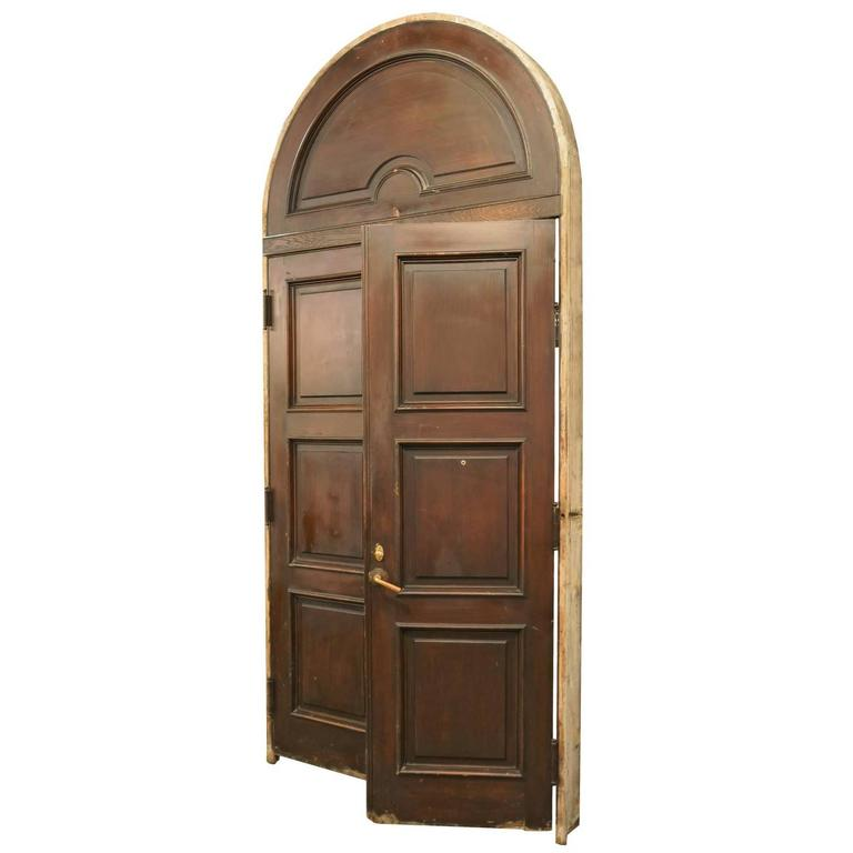 Colonial Revival Arched Exterior Door Unit For Sale