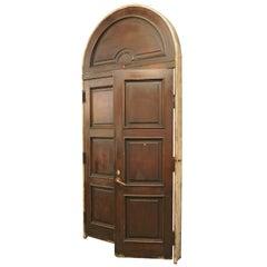 Colonial Revival Arched Exterior Door Unit