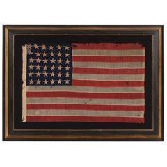 36-Star Hand-Sewn, Civil War Era Flag, Made by Annin in New York City
