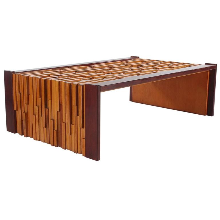 Mid Century Modern Percival Lafer Brazilian Rosewood Tail Table For