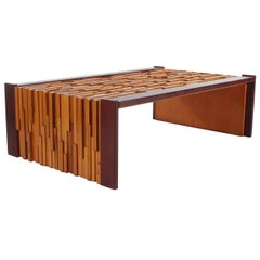 Mid-Century Modern Percival Lafer Brazilian Rosewood Cocktail Table