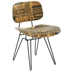 Hobart Wells Fiberglass and Iron Chair