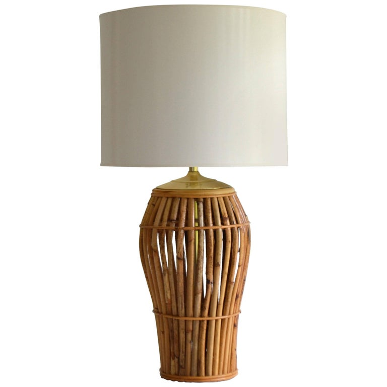 Midcentury bamboo table lamp for sale at 1stdibs midcentury bamboo table lamp for sale aloadofball Image collections