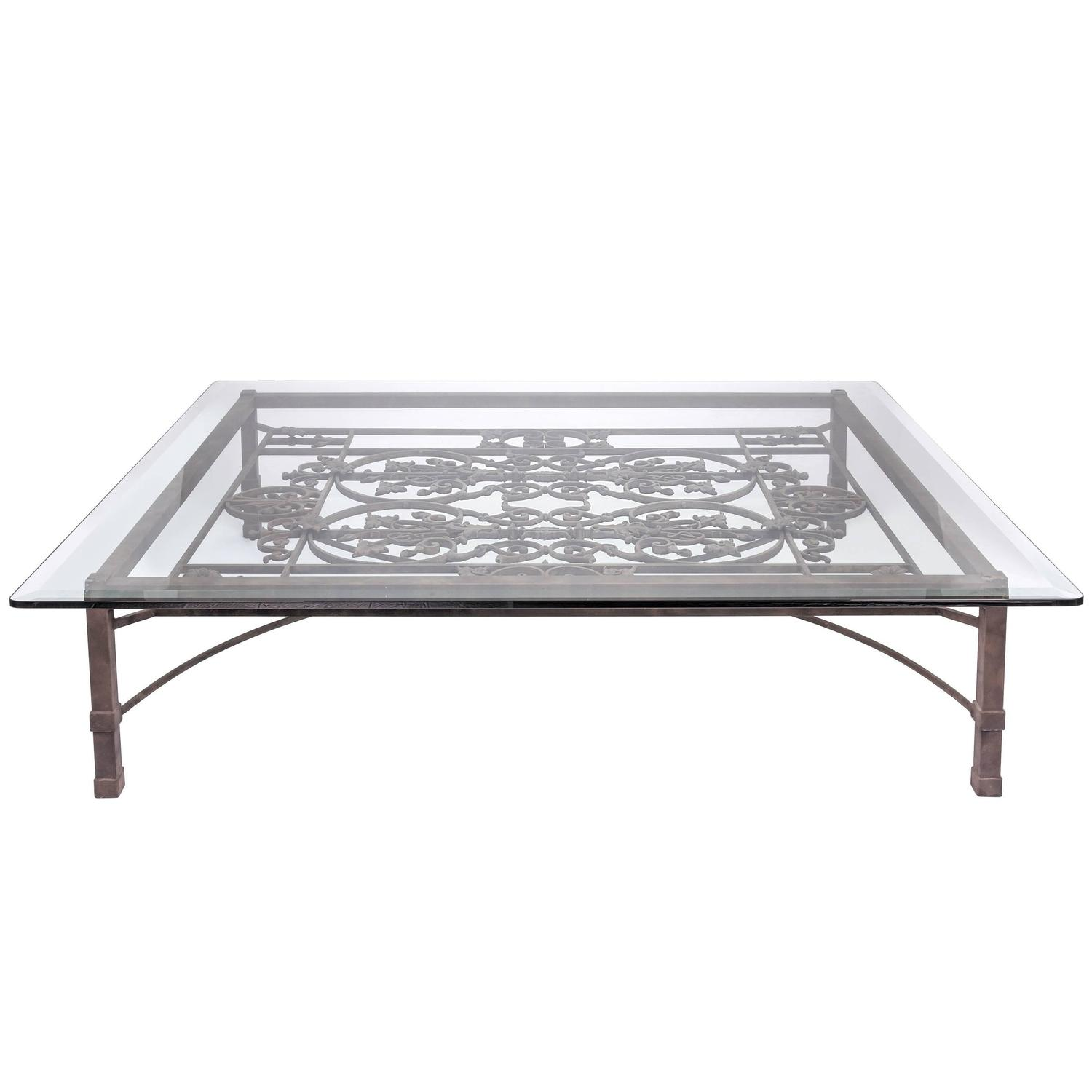 Large French Coffee Table: Large-Scale French Iron Coffee Table For Sale At 1stdibs