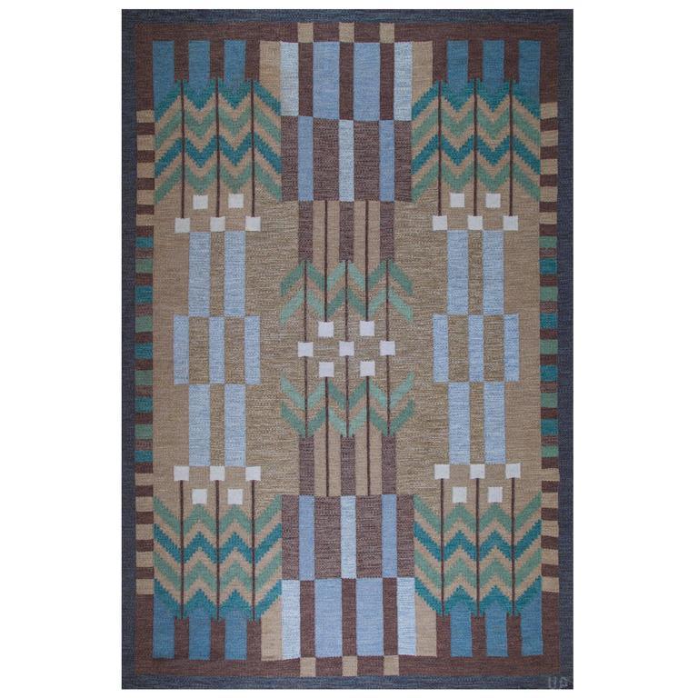 Ulla Parkdal, Swedish Flat-Weave Carpet, 1960s