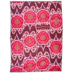 Early 20th Century Central Asian Satin Ikat Panel / Hanging