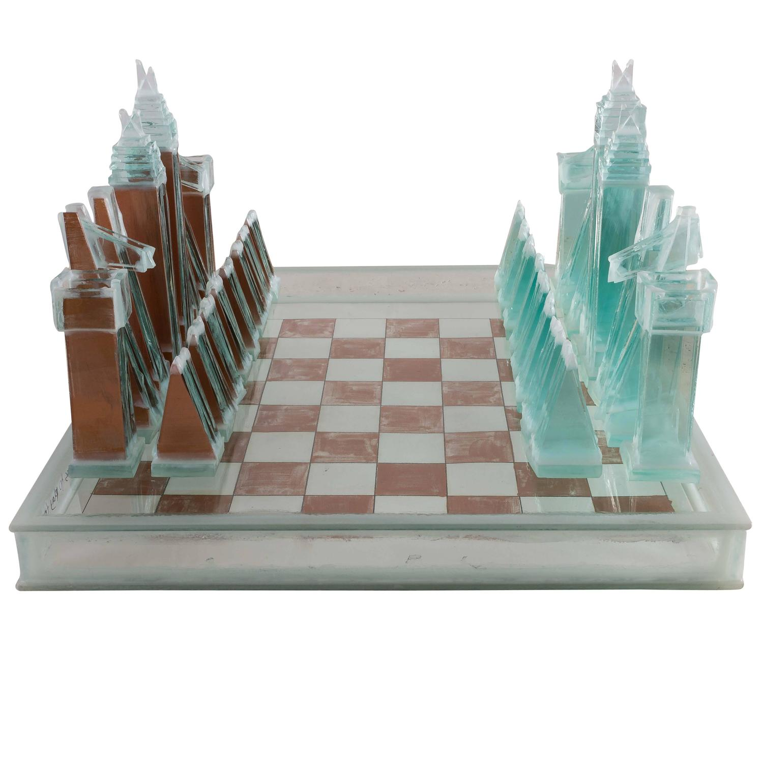 Clemens weiss copper chess object usa 2016 for sale at 1stdibs - Chess board display case ...
