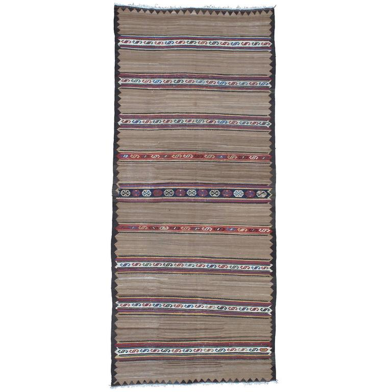 Antique Banded Kilim