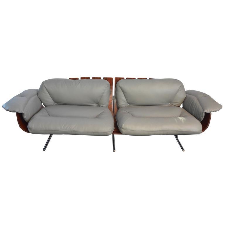 Exquisite Presidential Brazilian Jacaranda Sofa by Jorge Zalszupin