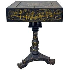 19th Century French Napoleon III Chinoiserie Decorated Games Table