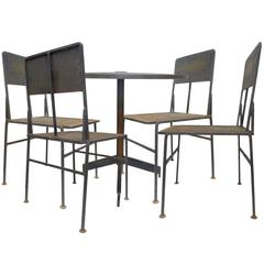 Perforated Iron Outdoor Table and Chairs Set