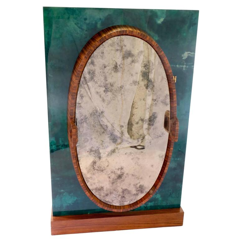 Aldo Tura Bar in Green Goatskin For Sale