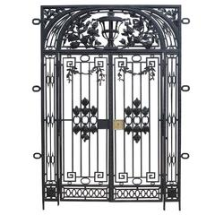 French Antique Wrought Iron Entrance Way