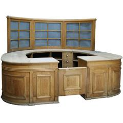 Oak Reception Counter with Glazed Screen