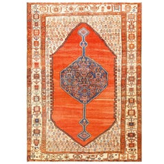 "Beautiful Room Size Antique Persian Bakshaish Carpet. Size: 9' 5"" x 12' 8"""