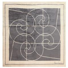 Square Size Mid-Century Rug by Pierre Cardin