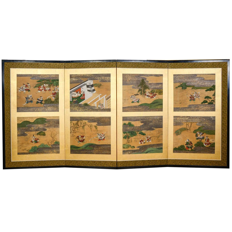 Japanese Silk Paintings - 126 For Sale on 1stdibs