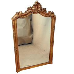 Antique Victorian Gilt Overmantel Mirror