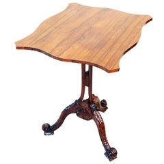 Antique Rosewood Tripod Lamp Table