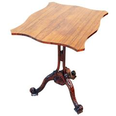 Antique Rosewood Tripod Table