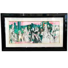 """""""Polo Lounge"""" by Leroy Neiman, 1988 Lithograph"""