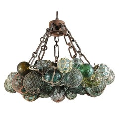 Custom Antique Japanese Fishing Float Led Chandelier