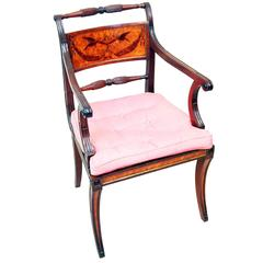 Antique Georgian Mahogany Carver Armchair