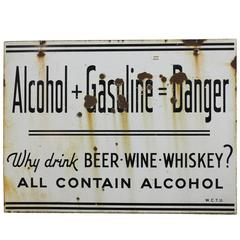 Rare Original American Prohibition WCTU Double-Sided Sign
