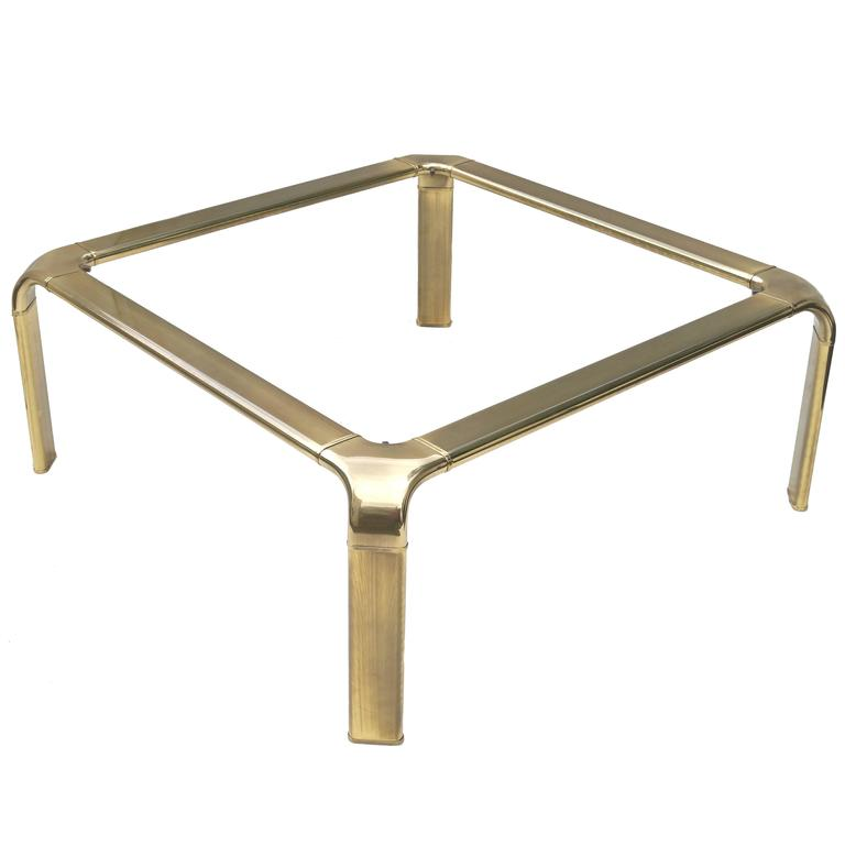 Mastercraft Modern Hollywood Regency Brass and Glass Coffee Cocktail Table