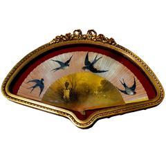 Antique Hand-Painted Fan