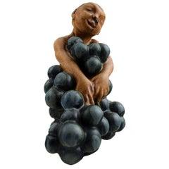 Bing & Grondahl Stoneware Figurine of Small Bacchus by Kai Nielsen