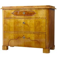 19th Century Scandinavian Birch Chest of Drawers Commode