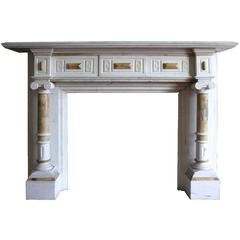 19th Century Victorian Statuary and Sienna Marble Chimneypiece