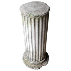 Attractive Early 20th Century Neoclassical Composition Stone Pedestal Column