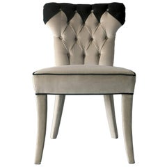 Catalina Chair in Fabric and Wood Structure