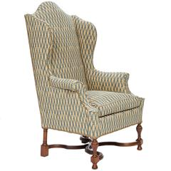Antique Wingback Armchair