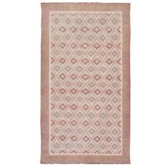 Large Vintage Indian Designer Cotton Dhurrie