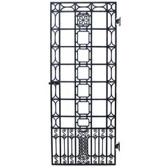 Early 20th Century Wrought Iron Side / Pedestrian Gate