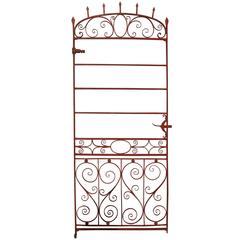 Tall and Elegant 19th Century Wrought Iron Side Gate