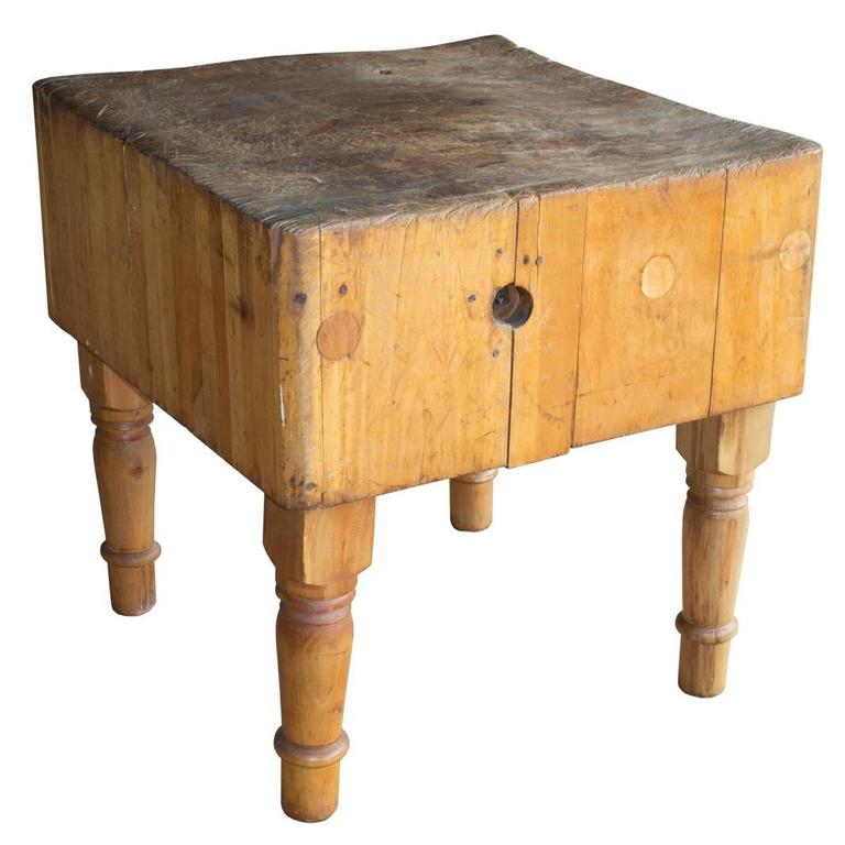 antique french butcher s block at 1stdibs