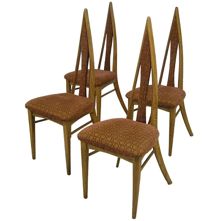 1950s Mid Century Modern Dining Chairs By Danis Et Freres, Set Of Four 1