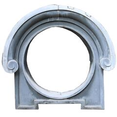 Late 19th Century French Zinc Oeil-de-boeuf Window