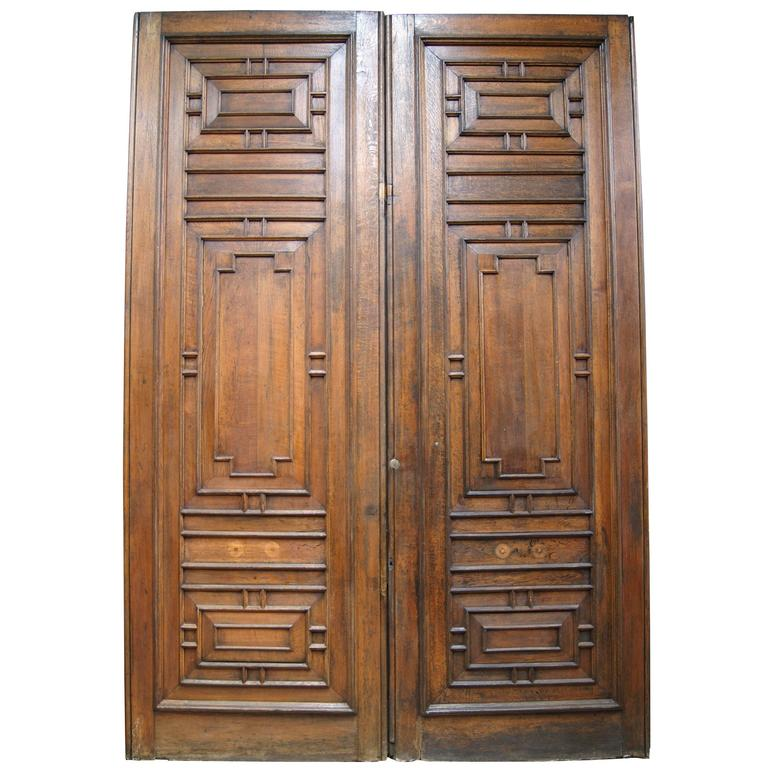 Pair of Solid English Oak Doors from the Palace of Westminster