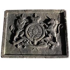British Carved Marble Royal Coat of Arms / Crest, circa 1775-1800